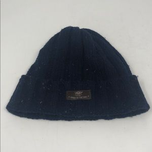One Size UGG Blue Specked Winter Cap Hat
